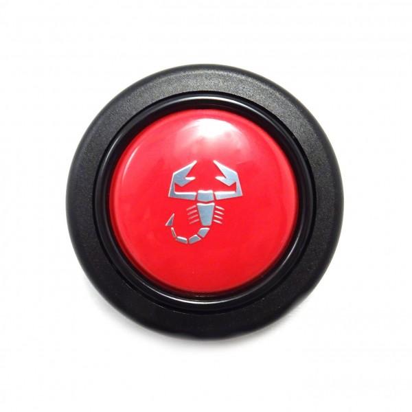 Pulsante avvisatore acustico Abarth rosso