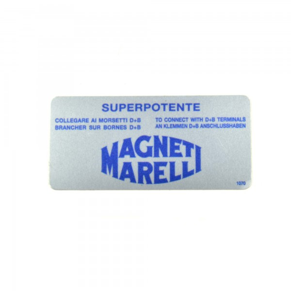 Autocollants: Magneti Marelli pour la bobine d'allumage Fiat 124 Spider