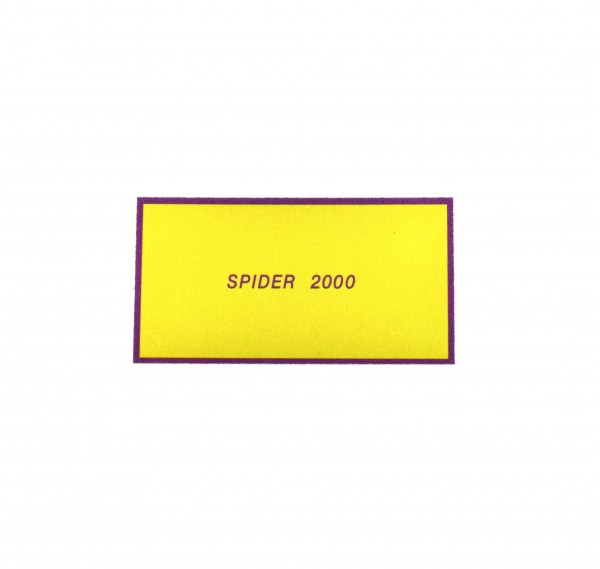 """Pegatinas: protección de la correa de oro """"Spider 2000"""" para el Fiat 124 Spider"""