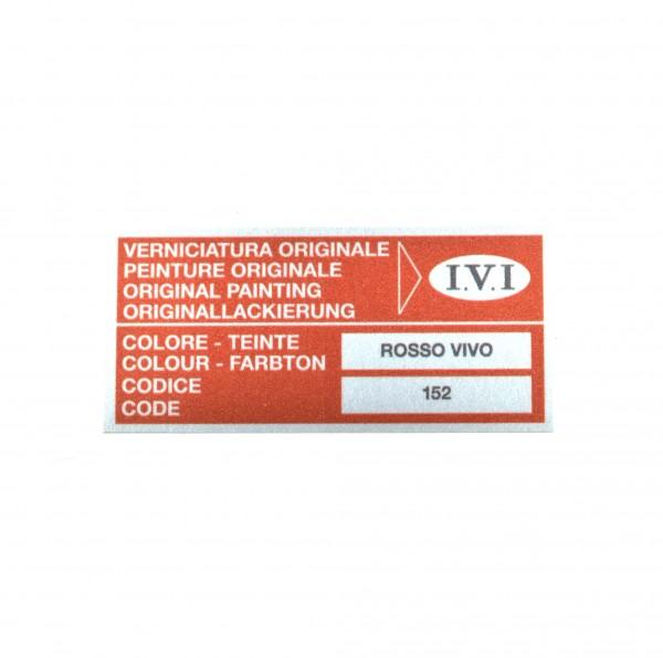 Stickers: Color 152 Rosso Vivo Fiat 124 Spider