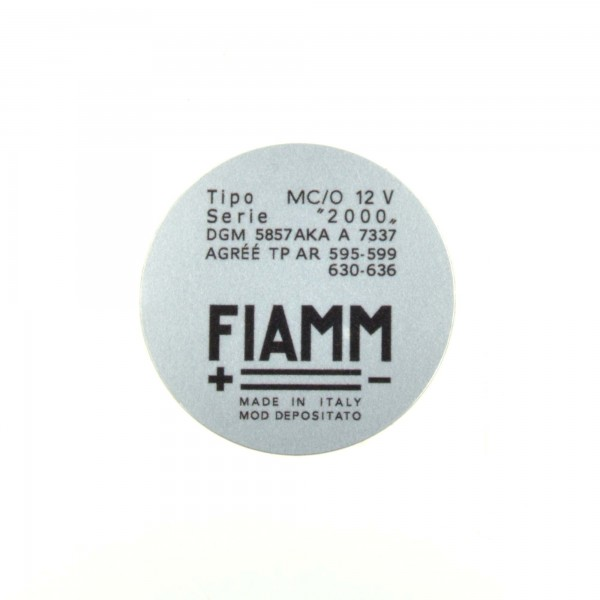 Pegatinas: Fiamm para trompa compresor Fiat 124 Spider
