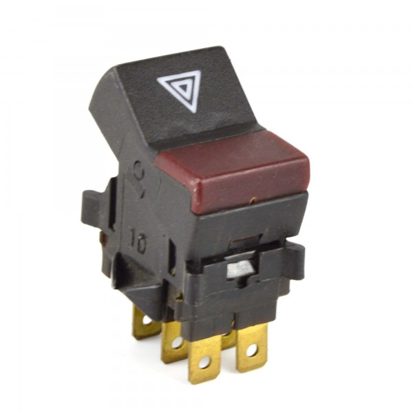 Hazard switch + red indicator for BS / CS Fiat 124 Spider