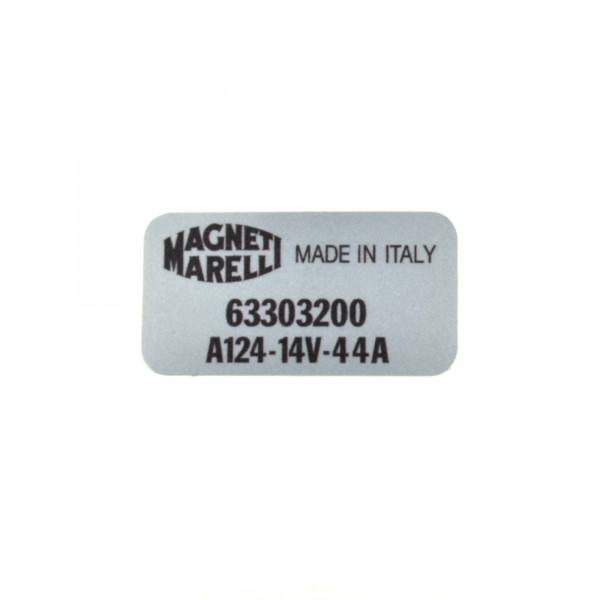 Adesivi: Magneti Marelli alternatore Fiat 124 Spider