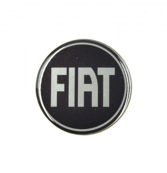 """Autocollant """"noir / argent de Fiat"""" (D = 54 mm) Fiat 124 Spider"""