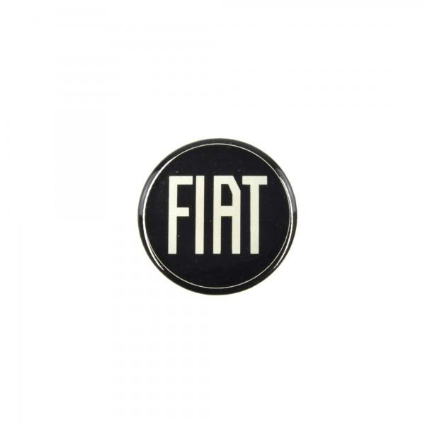 Pegatinas Fiat emblema / plata negro (D = 49 mm) Fiat 124 Spider