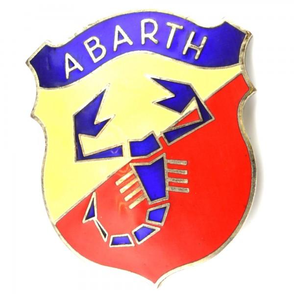 Esmaltado Abarth emblema para tornillos grandes, de 72 mm de alto Fiat 124 Spider